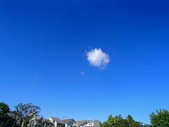 飛行船のような雲